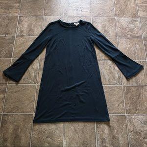 EUC loft cotton dress in dark turquoise size small